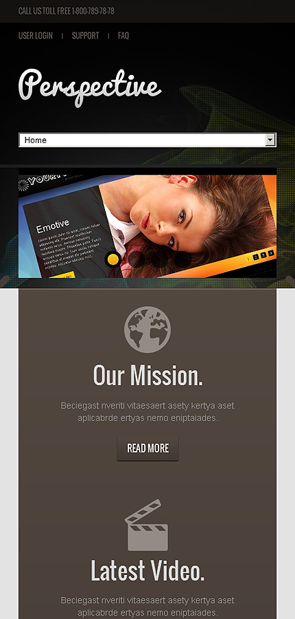 Joomla Theme/Template 42884 Main Page Screenshot
