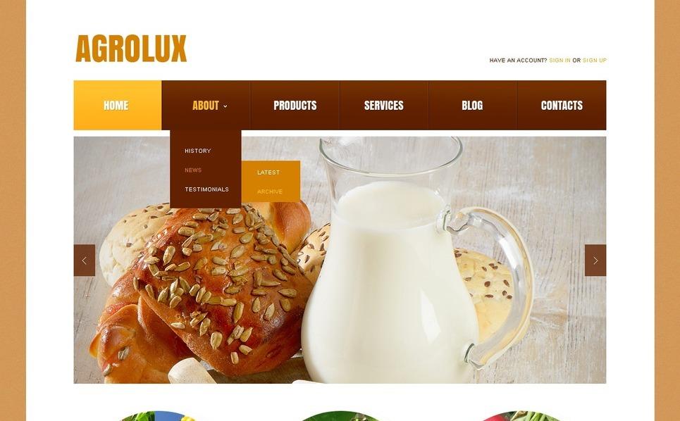 Responsive Tarım  Web Sitesi Şablonu New Screenshots BIG