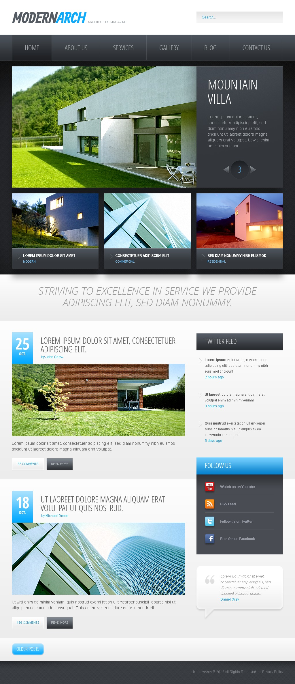 Black and White Construction Template Drupal №42834