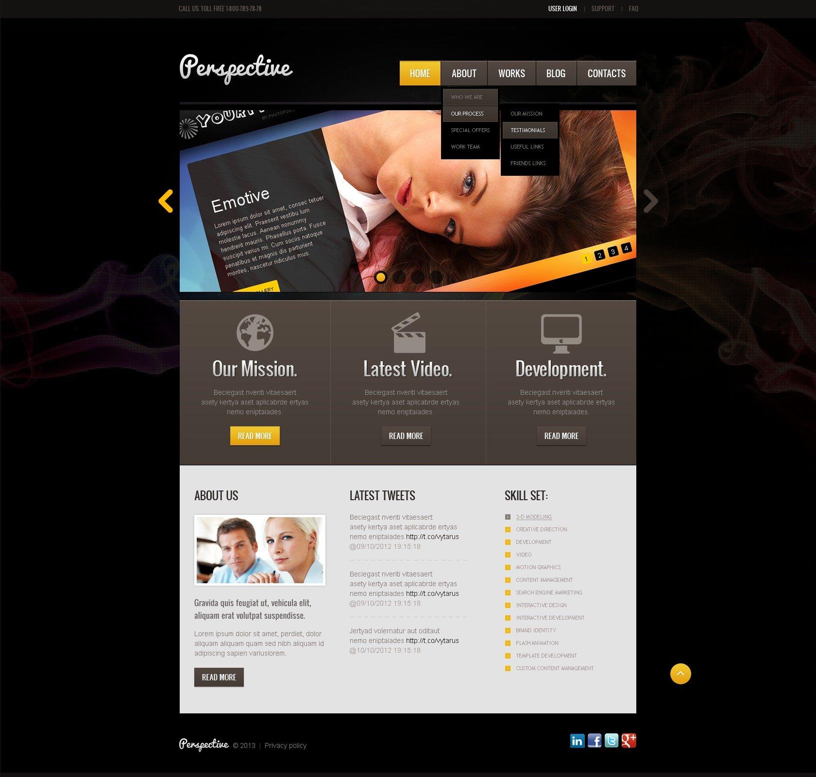 """Black Design Studio"" - Joomla шаблон №42884 - скріншот"