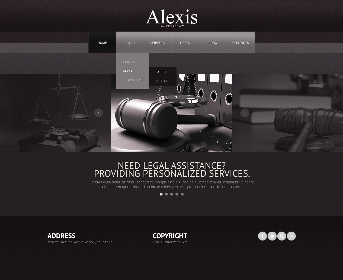 law firm website template 42894