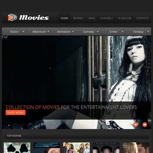Movies - Facebook HTML CMS Template