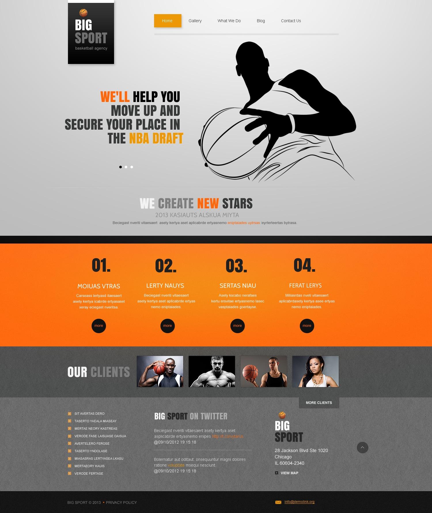 original basketball joomla template 42824