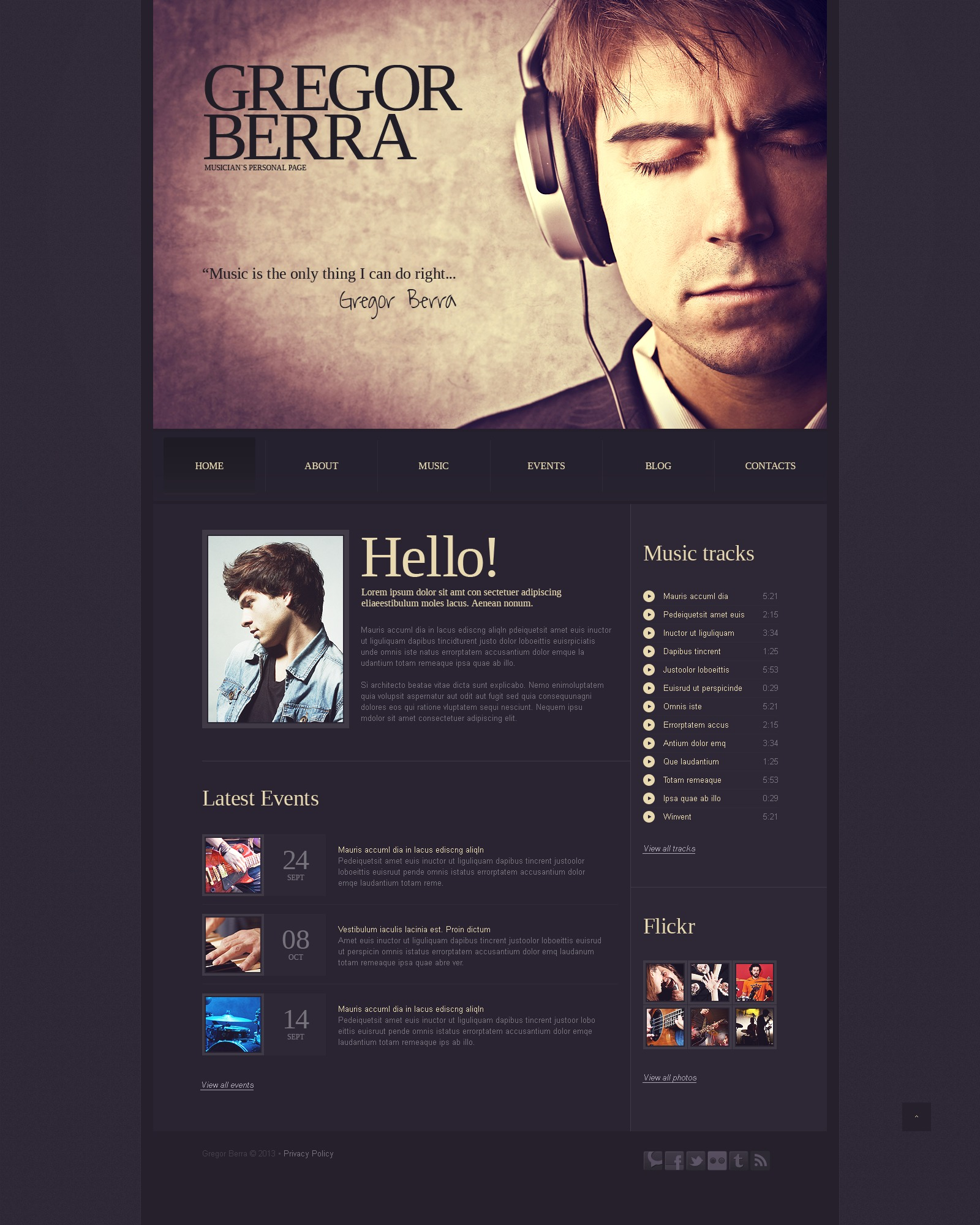 Singer website template 42833 singer website template maxwellsz