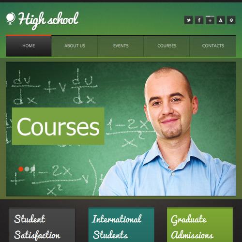 High School - Facebook HTML CMS Template