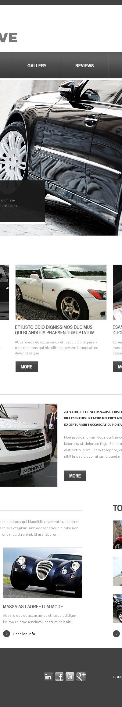 White Car Drupal Template