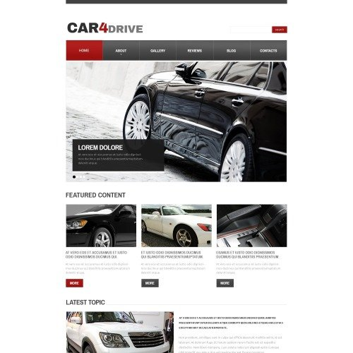 Car4Drive - HTML5 Drupal Template