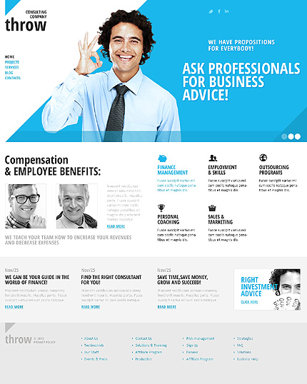 Joomla Theme/Template 42904 Main Page Screenshot