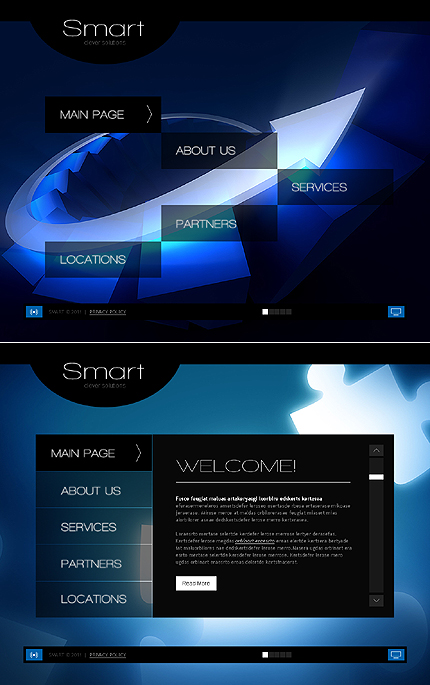 ADOBE Photoshop Template 42909 Home Page Screenshot