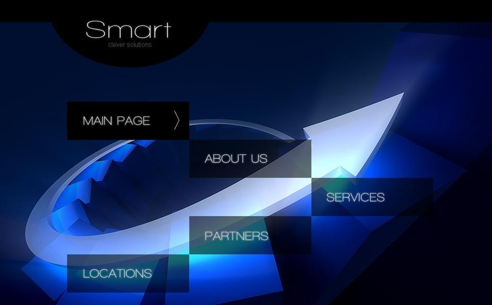 Prémium Üzlet és szolgáltatások Flash CMS sablon New Screenshots BIG