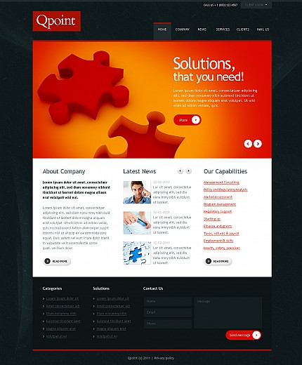 ADOBE Photoshop Template 42912 Home Page Screenshot