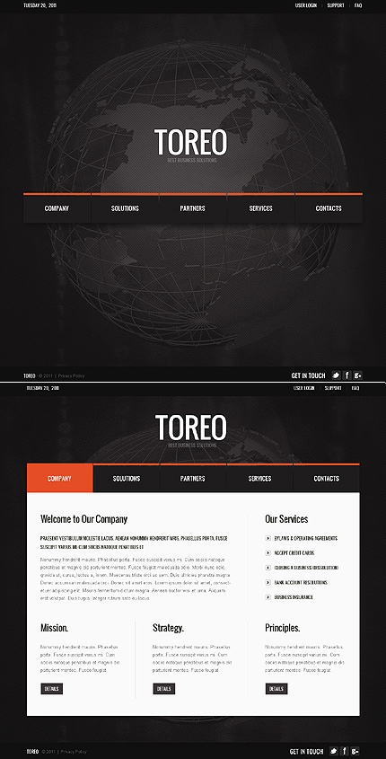 ADOBE Photoshop Template 42913 Home Page Screenshot
