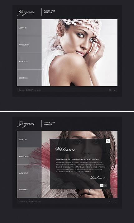 ADOBE Photoshop Template 42914 Home Page Screenshot