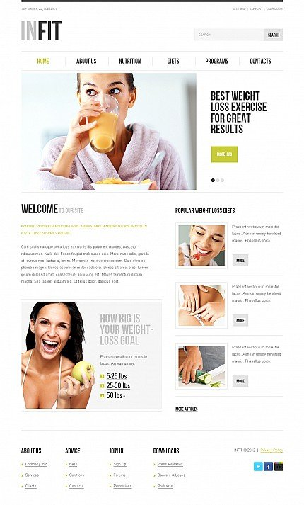 ADOBE Photoshop Template 42916 Home Page Screenshot