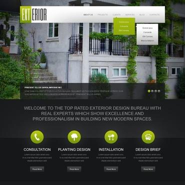 Black Exterior Design. WordPress Theme