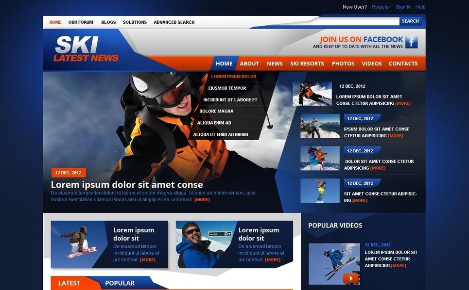 Kayakçılık  Drupal Şablonu New Screenshots BIG