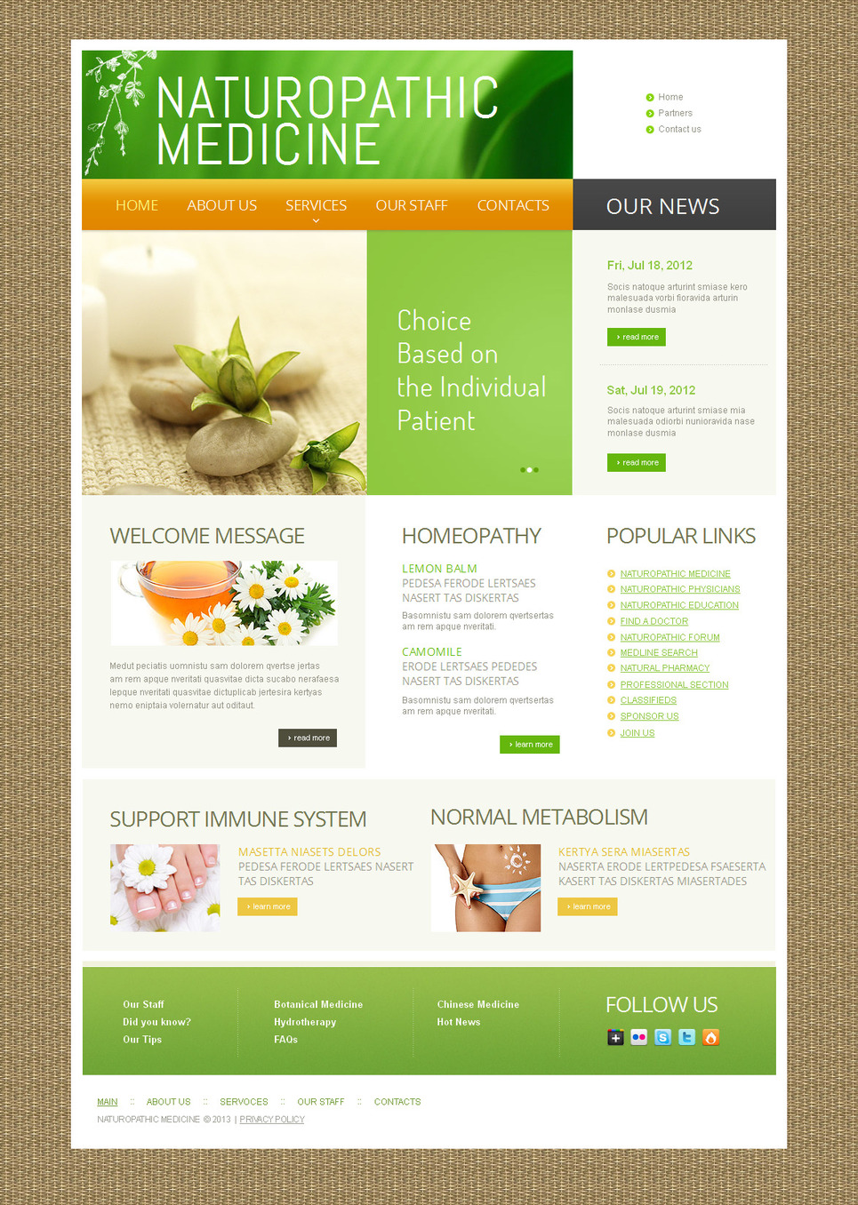 Herbal Medicine Website Template with Textured Background - image