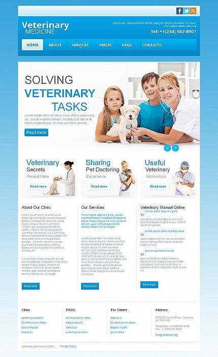 ADOBE Photoshop Template 42933 Home Page Screenshot