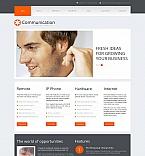 Communications Moto CMS HTML  Template 42934