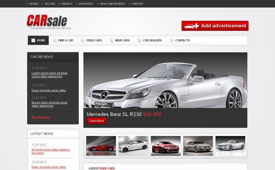 Tema Moto CMS HTML  #42936 per Un Sito di Commerciante d'Auto New Screenshots BIG