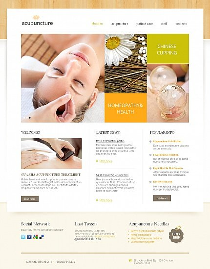 ADOBE Photoshop Template 42937 Home Page Screenshot