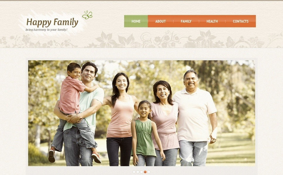 Premium Moto CMS HTML Template over Familie  New Screenshots BIG
