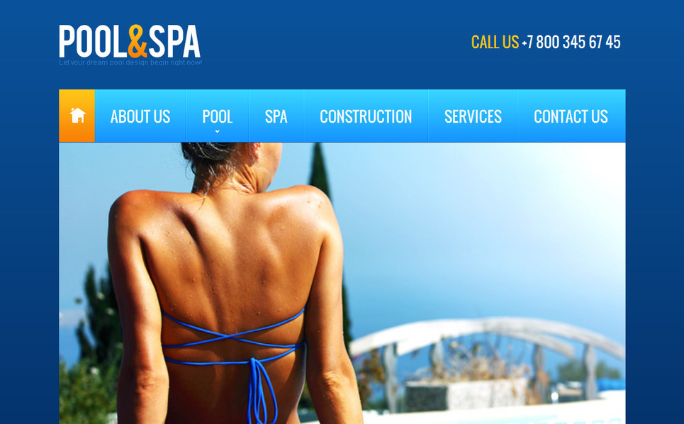Premium Swimming Pool Templates Moto Cms Html Şablon New Screenshots BIG