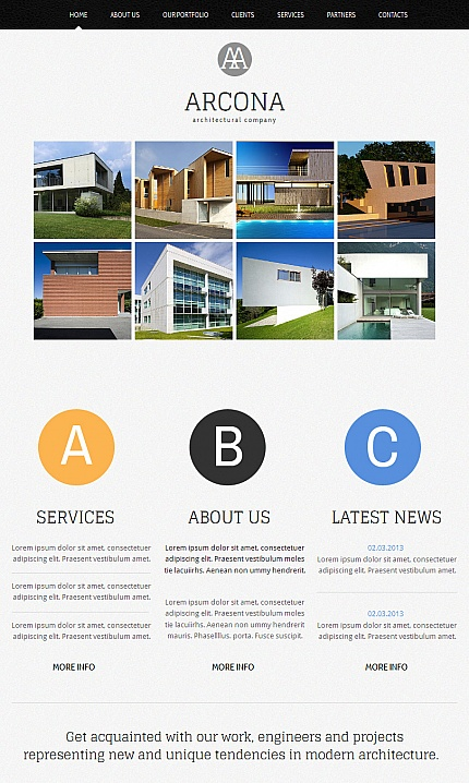 ADOBE Photoshop Template 42952 Home Page Screenshot