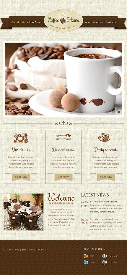 ADOBE Photoshop Template 42961 Home Page Screenshot