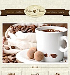 Cafe & Restaurant Facebook HTML CMS  Template 42961