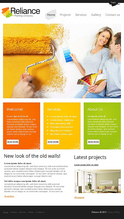 ADOBE Photoshop Template 42966 Home Page Screenshot