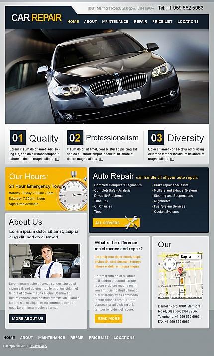 ADOBE Photoshop Template 42967 Home Page Screenshot