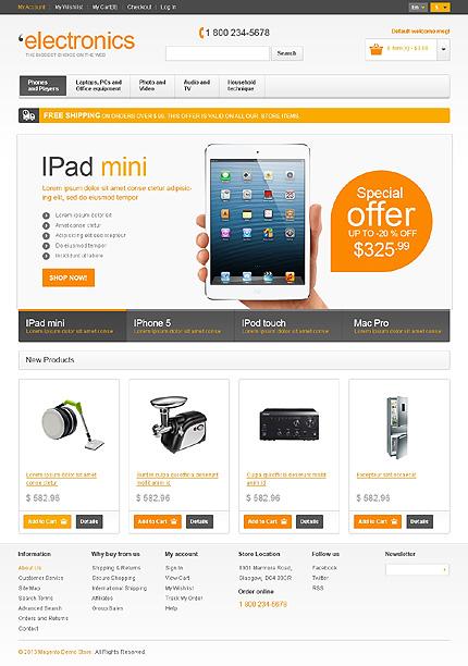 Electronics Magento Theme Website Templates