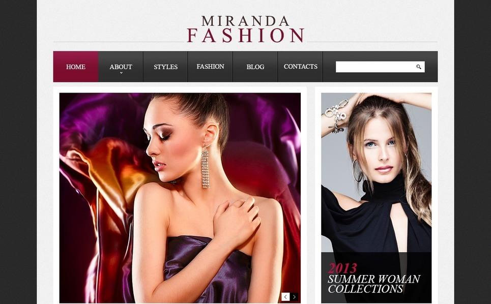 """Mode élégante"" thème Drupal  New Screenshots BIG"