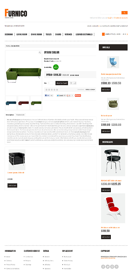 ADOBE Photoshop Template 42997 Home Page Screenshot