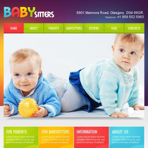 Babysitter - Facebook HTML CMS Template