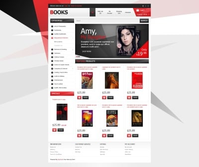 Books without Limits OpenCart Template