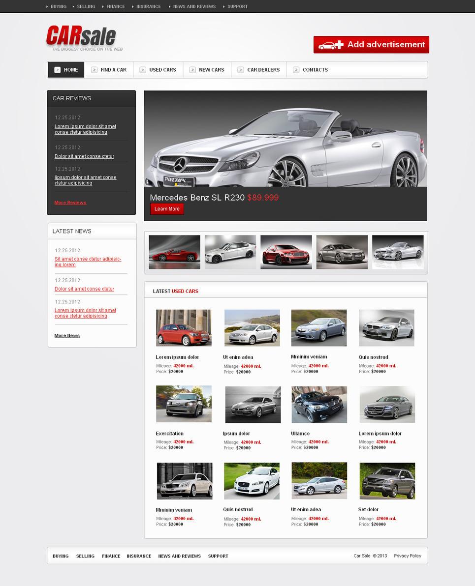 Car Dealer Moto CMS HTML Template New Screenshots BIG