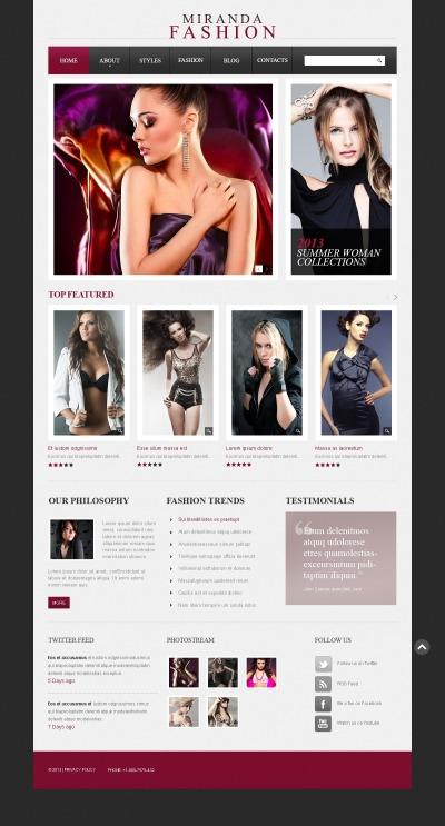 Drupal Vorlage für Mode