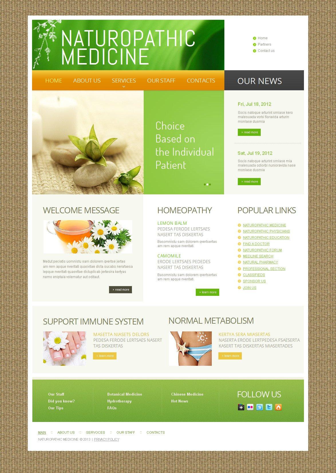 Herbal Moto CMS HTML Template