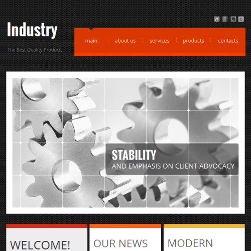 Industry - Facebook HTML CMS Template