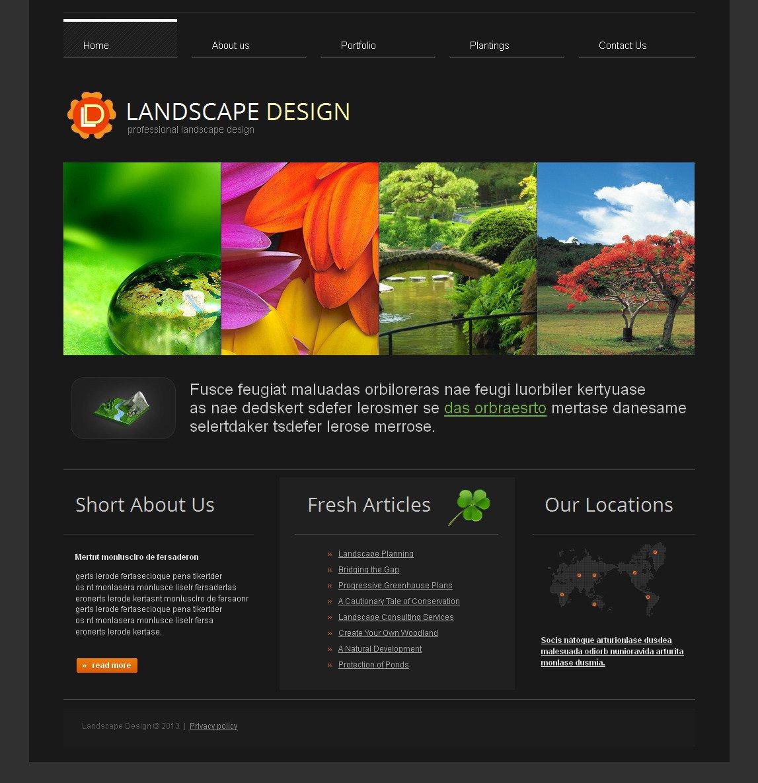 Landscape Design Moto CMS HTML Template