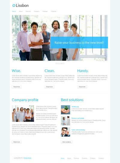 Moto CMS HTML Vorlage für Marketing-Agentur