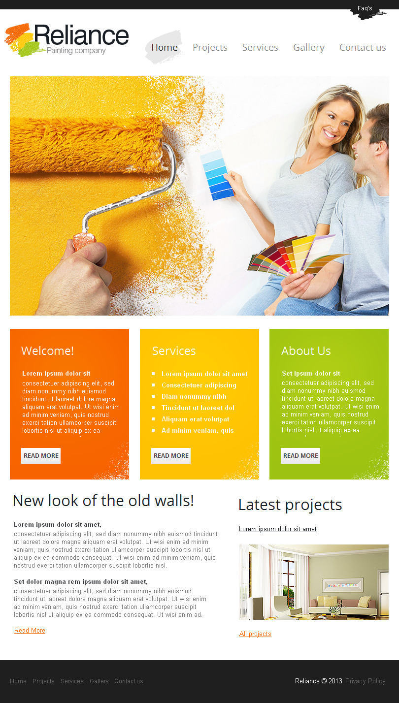 Painting Company Templates | TemplateMonster