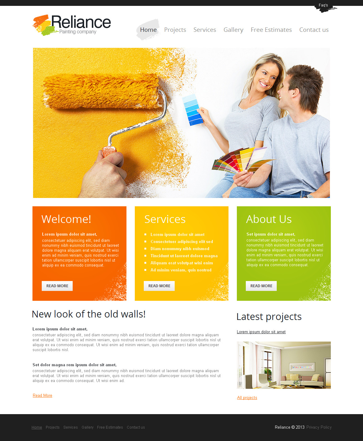 painting company website - Template