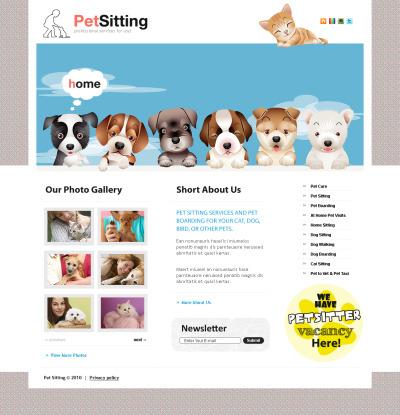 Pet Sitting Flash CMS Template #42908