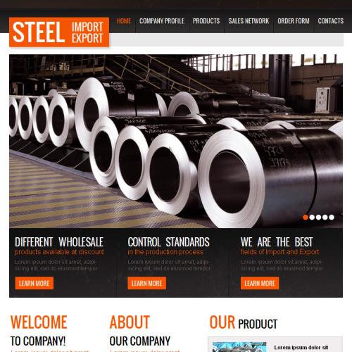 Steel Import Export - Facebook HTML CMS Template