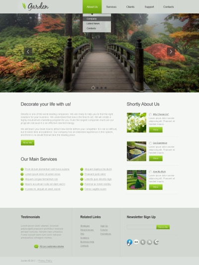 Garden Design Responsive Template Siti Web
