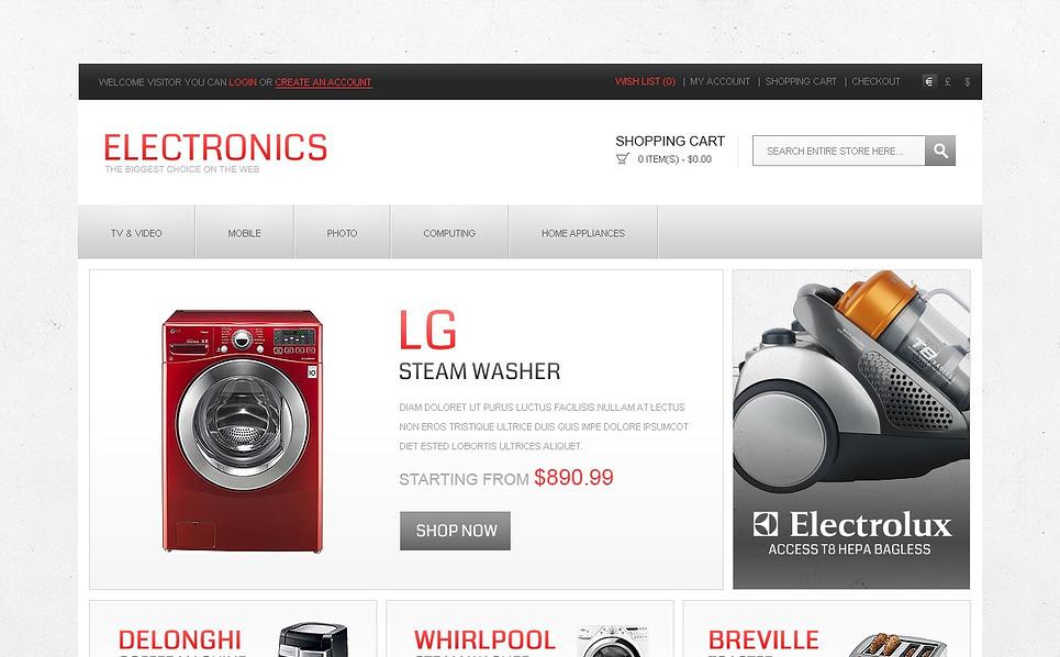 """Template OpenCart #43000 """"Negozio di Elettrodomestici"""" New Screenshots BIG"""