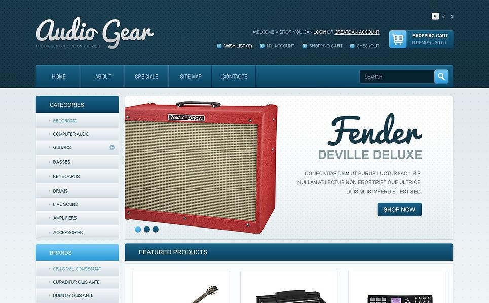 OpenCart Template over Audio Winkel  New Screenshots BIG